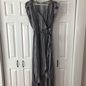 Splendid Blue Stripe Wrap Dress sz M